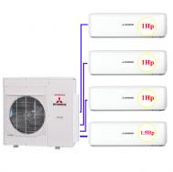Combo Multi MHI 4 dàn lạnh 1hp+1hp + 1.5hp (10kw)