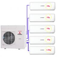 Combo Multi MHI 5 dàn lạnh 4 x1hp + 1.5hp (12.5kw)