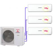 Combo Multi MHI 3 dàn lạnh 1hp+ 1hp + 1hp (7.1kw)