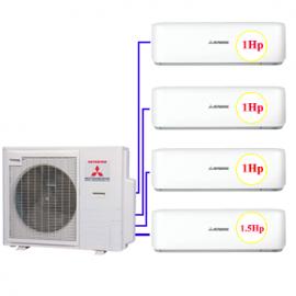 Combo Multi MHI 4 dàn lạnh 1hp+1hp + 1.5hp (8kw)