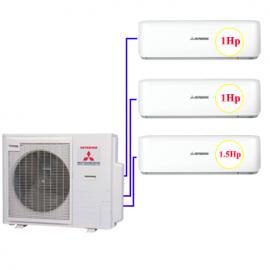 Combo Multi MHI 3 dàn lạnh 1hp+ 1hp + 1.5hp (8kw)