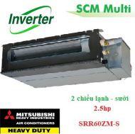 Dàn lạnh giấu trần nối ống gió Multi 2,5hp SRR60ZM-S